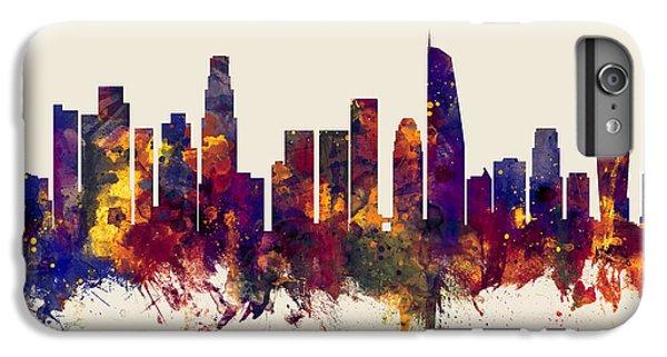Los Angeles California Skyline IPhone 6 Plus Case by Michael Tompsett