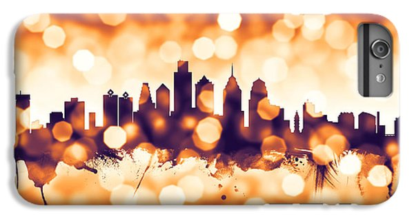 Philadelphia iPhone 6 Plus Case - Philadelphia Pennsylvania Skyline by Michael Tompsett