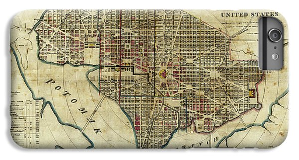 Lincoln Memorial iPhone 6 Plus Case - 1822 Map Of Washington Dc by Jon Neidert