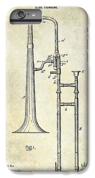 1902 Trombone Patent IPhone 6 Plus Case by Jon Neidert