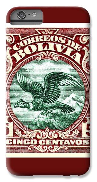 Condor iPhone 6 Plus Case - 1928 Bolivia Andean Condor Postage Stamp by Retro Graphics