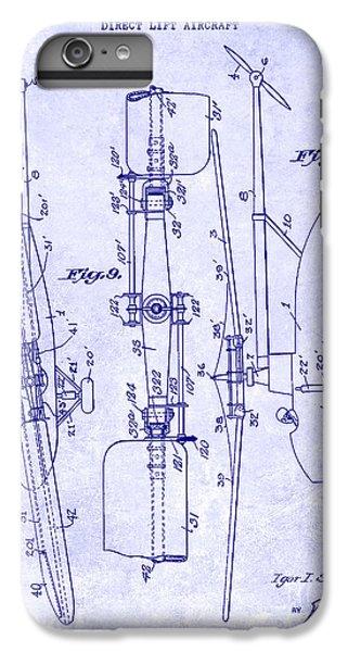 1935 Helicopter Patent Blueprint IPhone 6 Plus Case by Jon Neidert