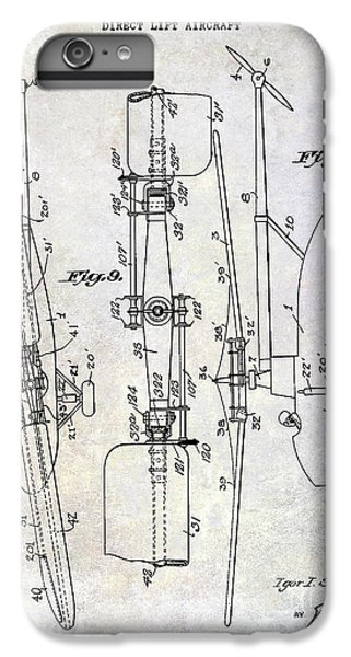 1935 Helicopter Patent  IPhone 6 Plus Case