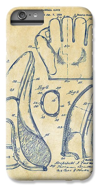 1941 Baseball Glove Patent - Vintage IPhone 6 Plus Case