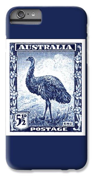 Emu iPhone 6 Plus Case - 1942 Australia Emu Bird Postage Stamp by Retro Graphics