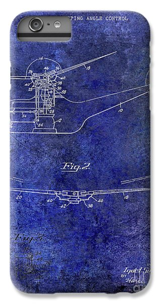 1947 Helicopter Patent Blue IPhone 6 Plus Case by Jon Neidert