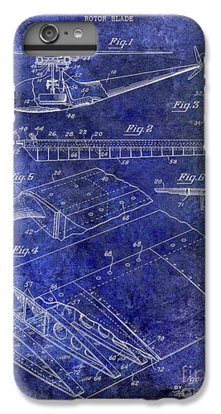 1949 Helicopter Patent Blue IPhone 6 Plus Case by Jon Neidert