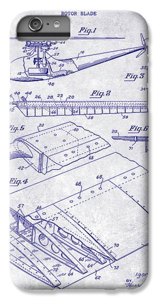 1949 Helicopter Patent Blueprint IPhone 6 Plus Case by Jon Neidert