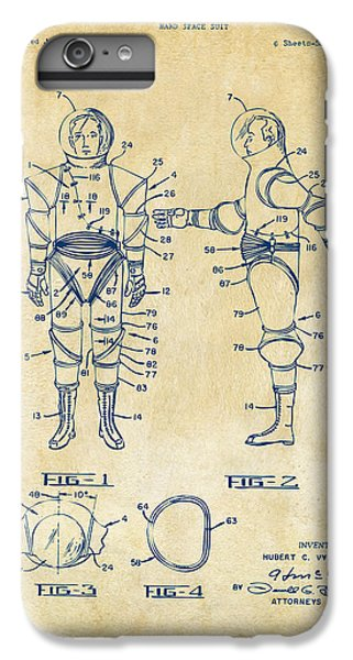 1968 Hard Space Suit Patent Artwork - Vintage IPhone 6 Plus Case by Nikki Marie Smith