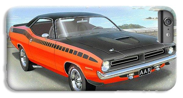 1970 Barracuda Aar  Cuda Classic Muscle Car IPhone 6 Plus Case by John Samsen