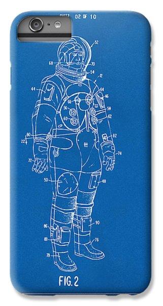 1973 Astronaut Space Suit Patent Artwork - Blueprint IPhone 6 Plus Case