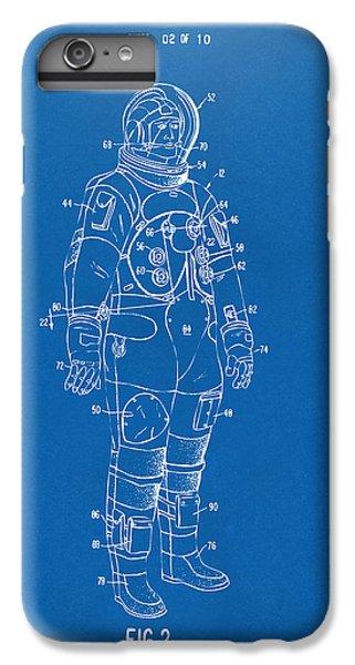 1973 Astronaut Space Suit Patent Artwork - Blueprint IPhone 6 Plus Case by Nikki Marie Smith