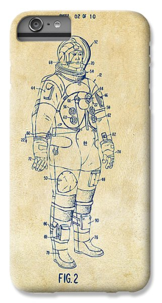 1973 Astronaut Space Suit Patent Artwork - Vintage IPhone 6 Plus Case by Nikki Marie Smith