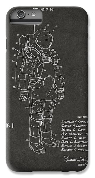 Science Fiction iPhone 6 Plus Case - 1973 Space Suit Patent Inventors Artwork - Gray by Nikki Marie Smith
