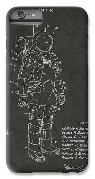 1973 Space Suit Patent Inventors Artwork - Gray IPhone 6 Plus Case by Nikki Marie Smith