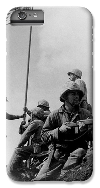 1st Flag Raising On Iwo Jima  IPhone 6 Plus Case by War Is Hell Store