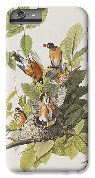 American Robin IPhone 6 Plus Case by John James Audubon
