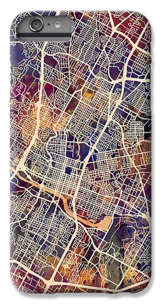 Austin iPhone 6 Plus Case - Austin Texas City Map by Michael Tompsett