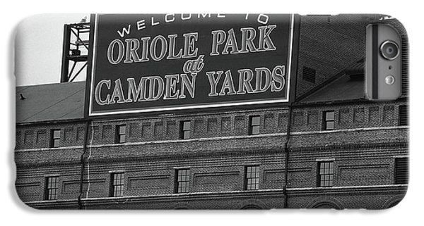 Oriole iPhone 6 Plus Case - Baltimore Orioles Park At Camden Yards Bw by Frank Romeo