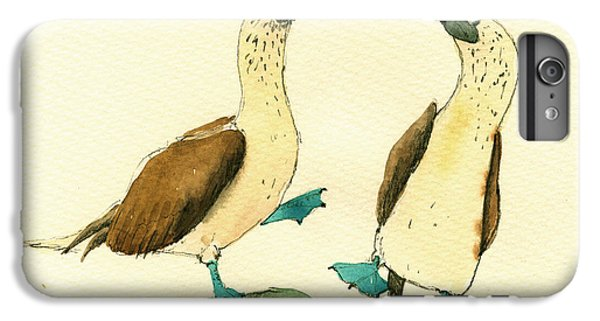 Boobies iPhone 6 Plus Case - Blue Footed Boobies by Juan  Bosco