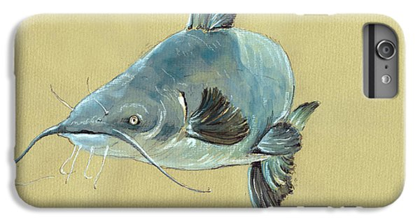 Channel Catfish Fish Animal Watercolor Painting IPhone 6 Plus Case