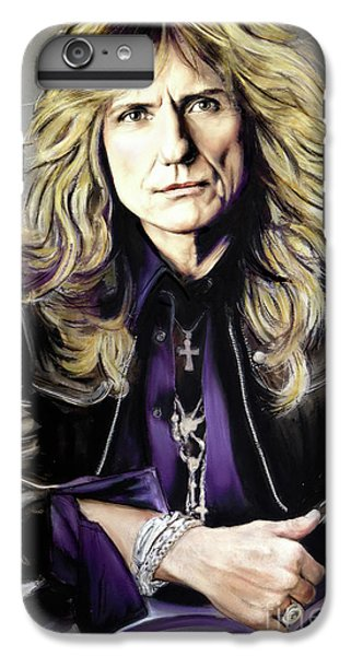 Rock Music Jimmy Page iPhone 6 Plus Case - David Coverdale 1 by Melanie D