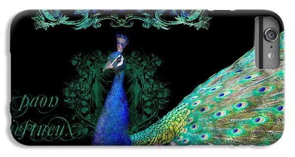 Elegant Peacock W Vintage Scrolls  IPhone 6 Plus Case