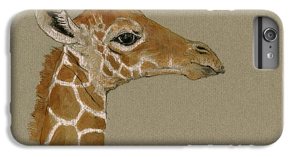 Giraffe Head Study  IPhone 6 Plus Case by Juan  Bosco