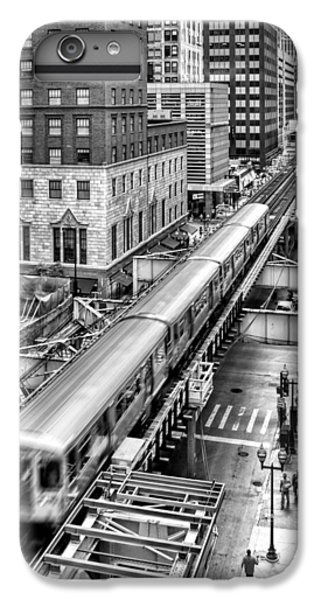 Historic Chicago El Train Black And White IPhone 6 Plus Case