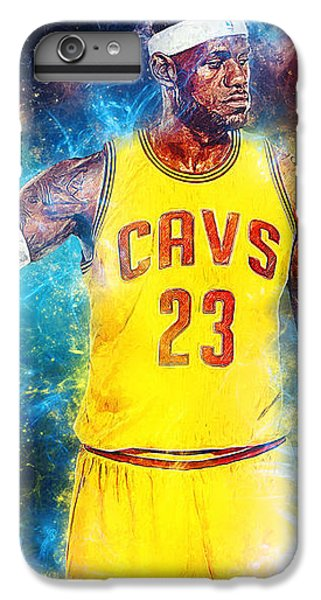 Lebron James IPhone 6 Plus Case by Taylan Apukovska