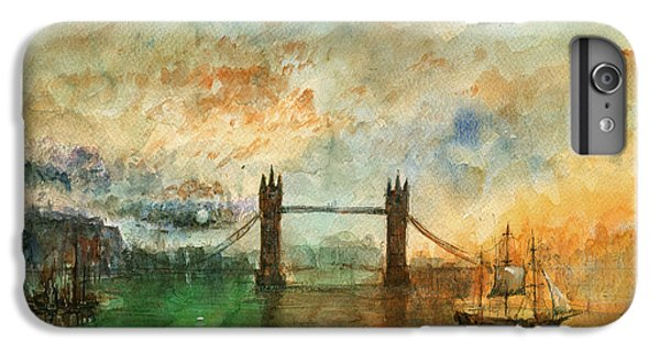 London Watercolor Painting IPhone 6 Plus Case by Juan  Bosco