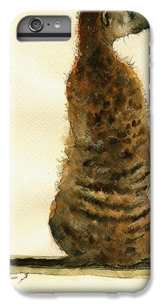 Meerkat iPhone 6 Plus Case - Meerkat Or Suricate Painting by Juan  Bosco