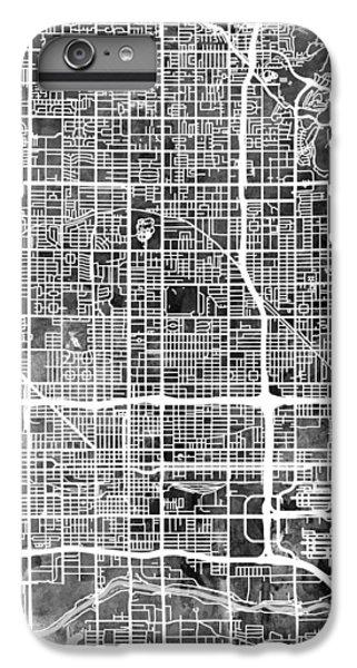 Phoenix iPhone 6 Plus Case - Phoenix Arizona City Map by Michael Tompsett