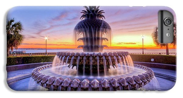 Pineapple Fountain Charleston Sc Sunrise IPhone 6 Plus Case
