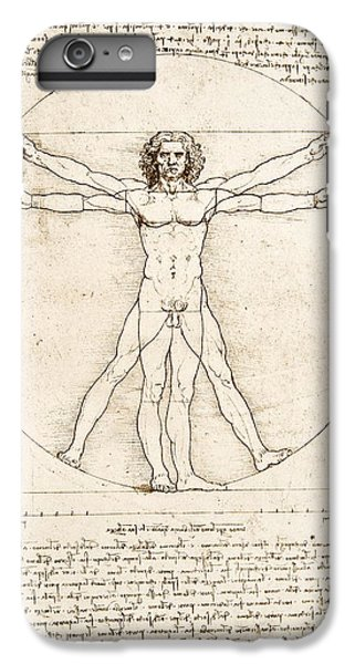 The Proportions Of The Human Figure IPhone 6 Plus Case by Leonardo Da Vinci