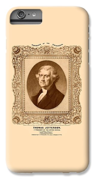 Thomas Jefferson iPhone 6 Plus Case - Thomas Jefferson by War Is Hell Store