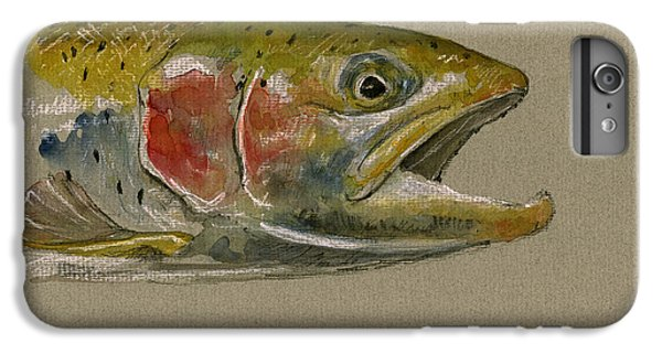 Trout Watercolor Painting IPhone 6 Plus Case by Juan  Bosco