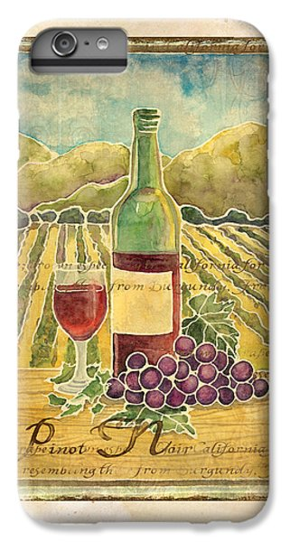 Vineyard Pinot Noir Grapes N Wine - Batik Style IPhone 6 Plus Case by Audrey Jeanne Roberts