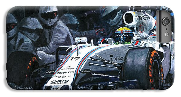 2015 Williams Fw37 F1 Pit Stop Spain Gp Massa  IPhone 6 Plus Case by Yuriy Shevchuk