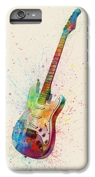 Electric Guitar Abstract Watercolor IPhone 6 Plus Case