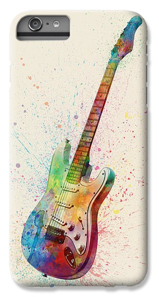 Guitar iPhone 6 Plus Case - Electric Guitar Abstract Watercolor by Michael Tompsett