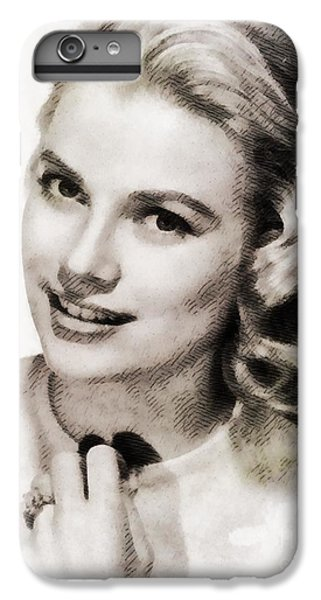 Grace Kelly, Vintage Hollywood Actress IPhone 6 Plus Case by John Springfield