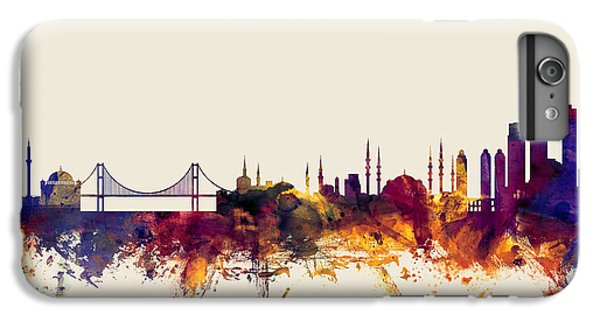 Turkey iPhone 6 Plus Case - Istanbul Turkey Skyline by Michael Tompsett