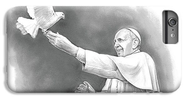 Dove iPhone 6 Plus Case - Pope Francis by Greg Joens