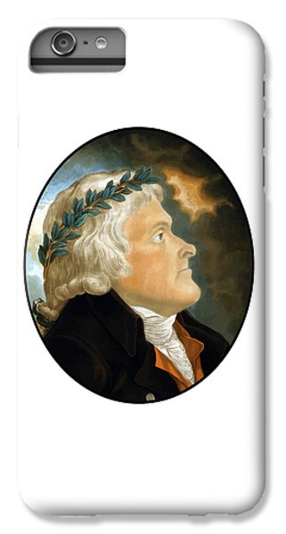 Thomas Jefferson iPhone 6 Plus Case - President Thomas Jefferson - Two by War Is Hell Store