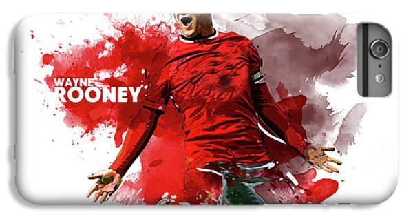 Wayne Rooney iPhone 6 Plus Case - Wayne Rooney by Semih Yurdabak