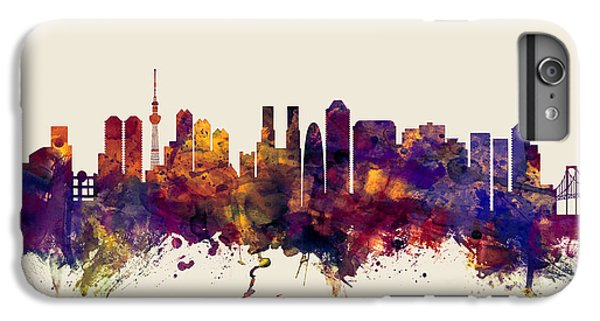 Tokyo Japan Skyline IPhone 6 Plus Case by Michael Tompsett