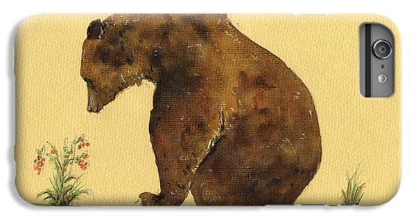 Grizzly Bear Watercolor Painting IPhone 6 Plus Case by Juan  Bosco