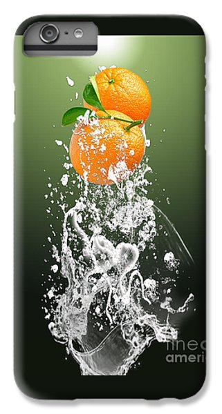 Orange Splash IPhone 6 Plus Case by Marvin Blaine