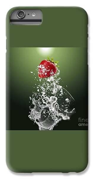 Strawberry Splash IPhone 6 Plus Case by Marvin Blaine